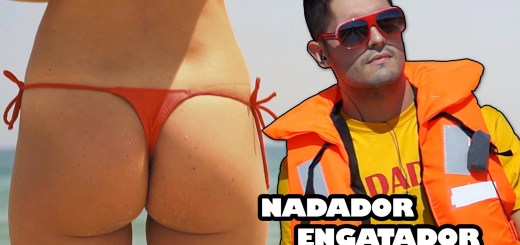 Nadador salvador vai à praia engatar tudo o que mexe