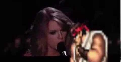 Taylor Swift agredida em palco durante atuação nos Grammy