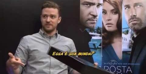 Uma entrevista de rir, Sabrina Sato e Justin Timberlake