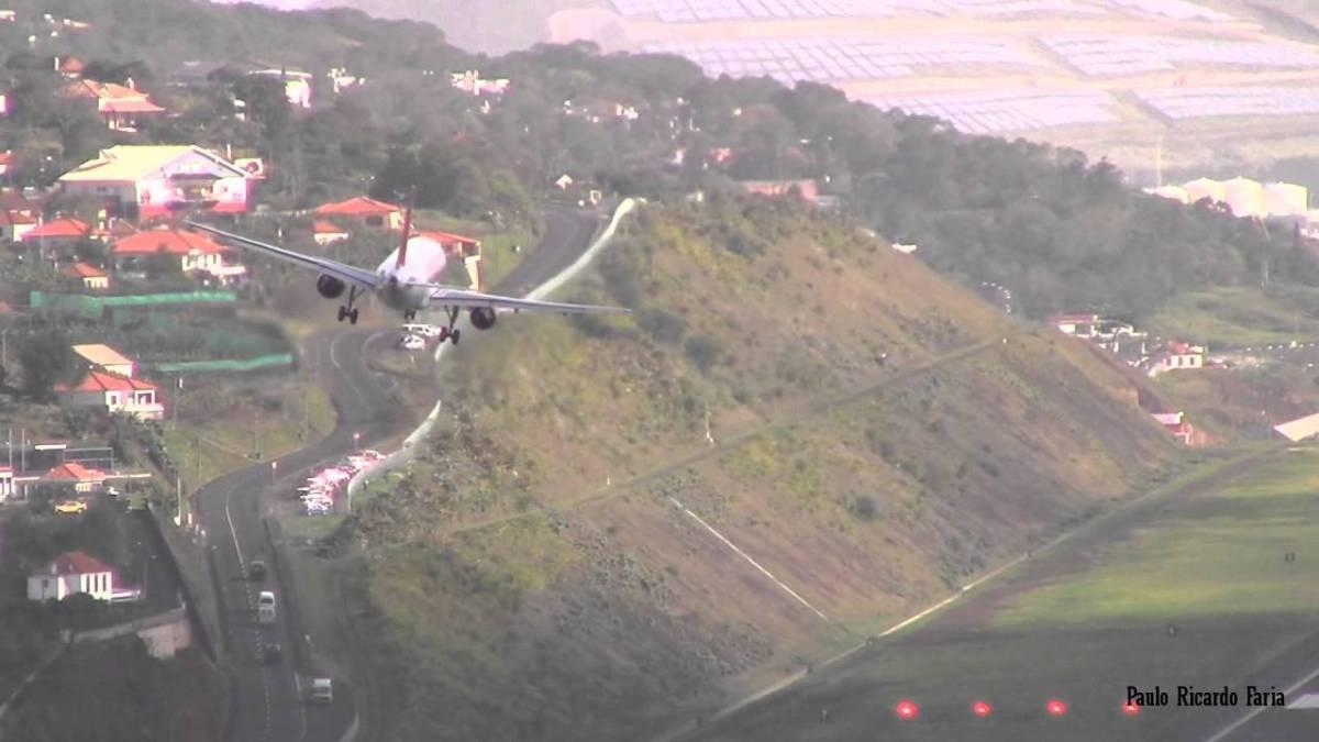 Aterragem difícil e impressionante no aeroporto da Madeira