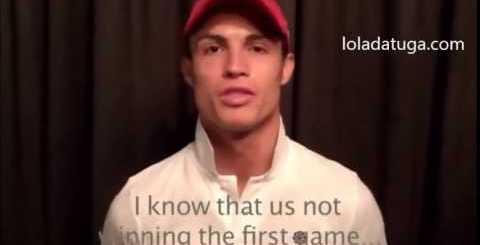 Mensagem de Cristiano Ronaldo