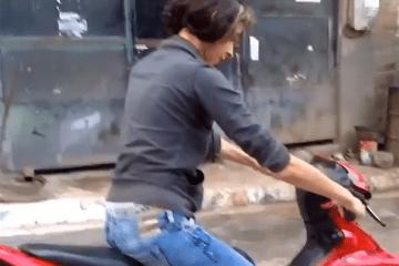 Mulheres e motos não combinam