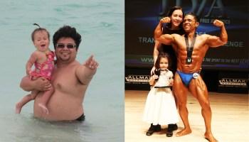 Obeso promete à filha que vai perder peso