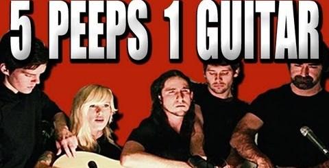 5 artistas 1 guitarra