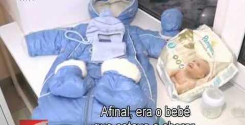 Gata salva bebé na Rússia