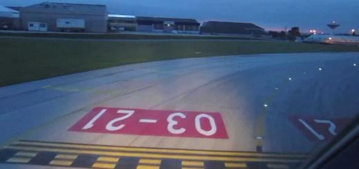 Aterragem em Lisboa filmada do cockpit