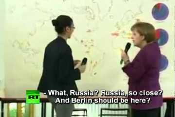 Segundo Angela Merkel Berlin fica na Rússia