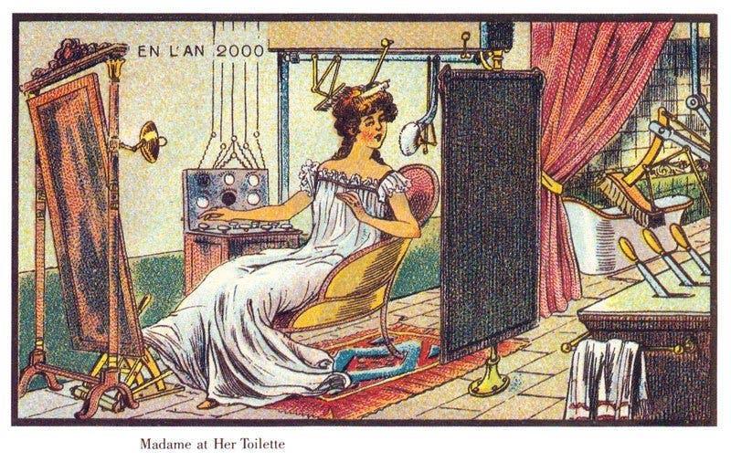 Maquilhagem - A vida no ano 2000 imaginada cem anos antes