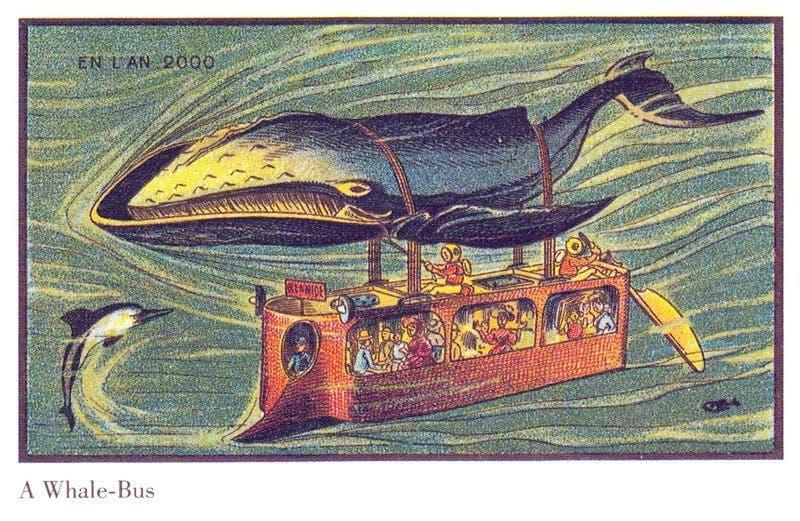autocarro onibus - A vida no ano 2000 imaginada cem anos antes