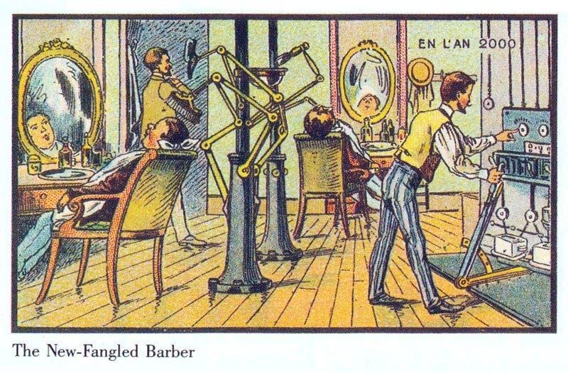 Barbeiro - A vida no ano 2000 imaginada cem anos antes