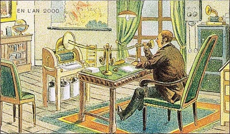 Comunicações - A vida no ano 2000 imaginada cem anos antes