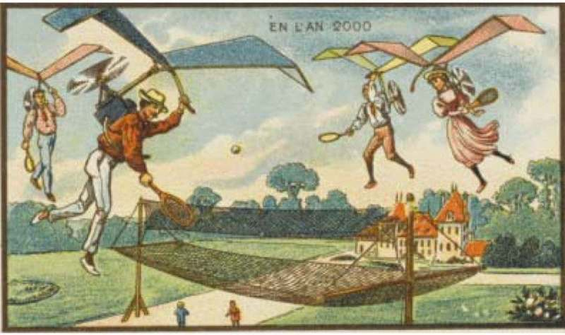 Ténis aéreo - A vida no ano 2000 imaginada cem anos antes