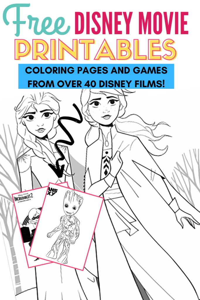 Free Printable Disney Coloring Pages And Games From 40 Disney Movies