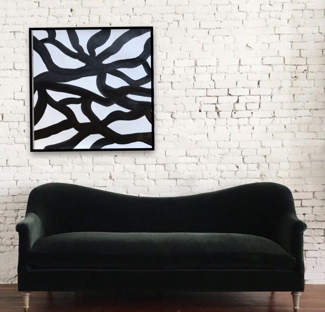 arte abstracto en negro y blanco