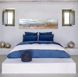 cuadros azules para dormitorios