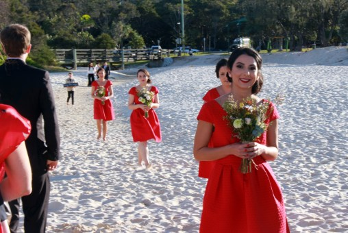 Bridesmaids lead the way