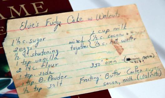 homemade fudge cake with walnuts recipe