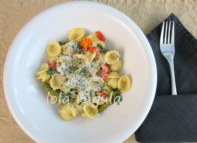 orecchiette pasta with pancetta and asparagus recipe