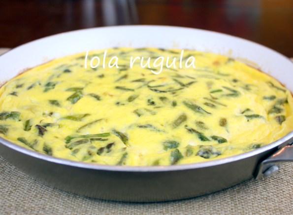 lola rugula asparagus frittata recipe