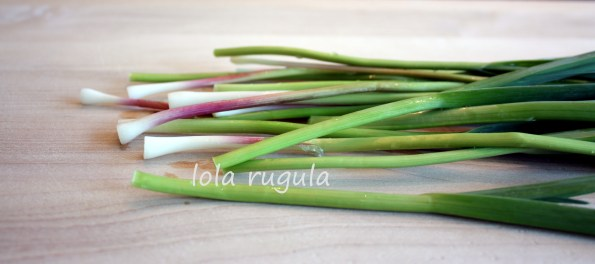 lola rugula how to use green garlic