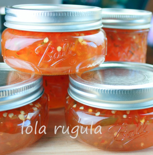 lola rugula canned hot pepper jelly