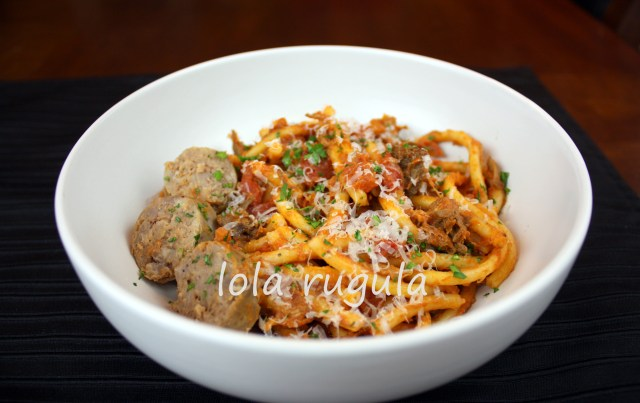 lola rugula pasta and ragu