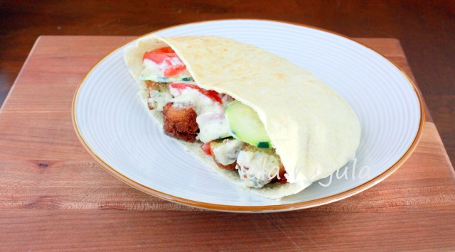 lola rugula falafel sandwich