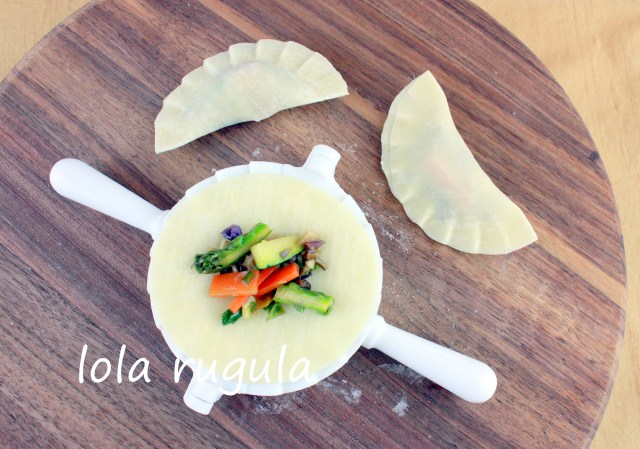 lola rugula how to make veggie dumplings