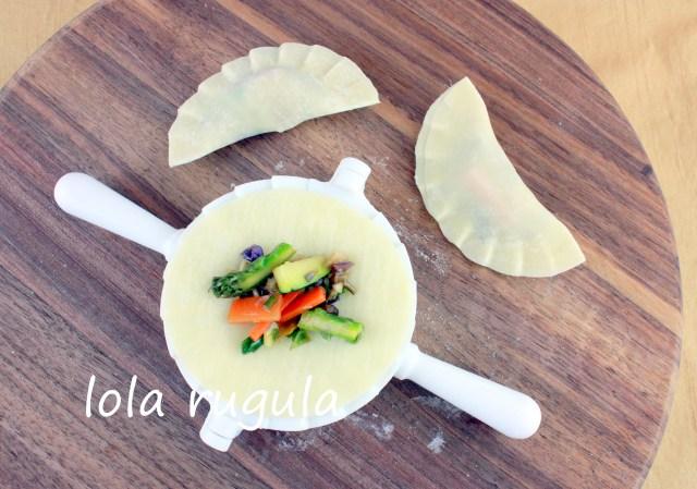 lola rugula how to make veggie dumplings