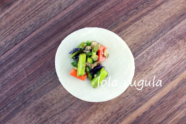 lola rugula vegetable dumpling