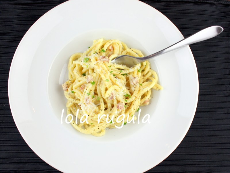 lola rugula how to make easy pasta carbonara