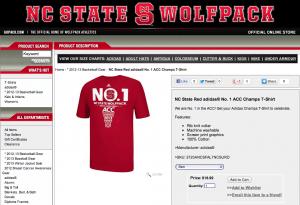 NC State No.1 T-Shirt