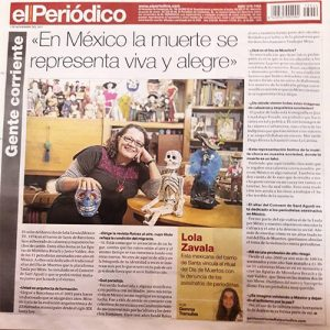 Entrevista en el Periódico. 1 de noviembre de 2017