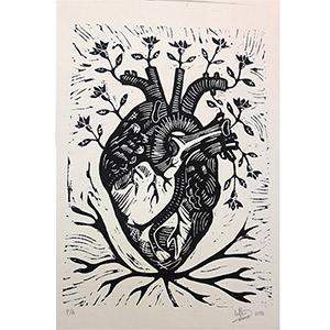 Corazón florecido
