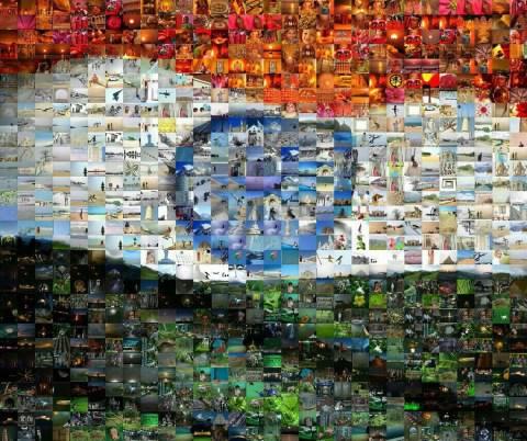 india flag mosaic