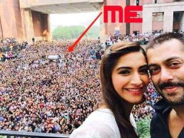 selfie with salman and sonam