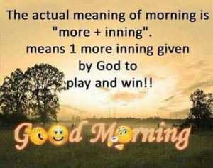 good morning meaning