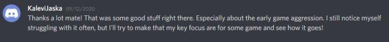 Kalevi testimonial Discord