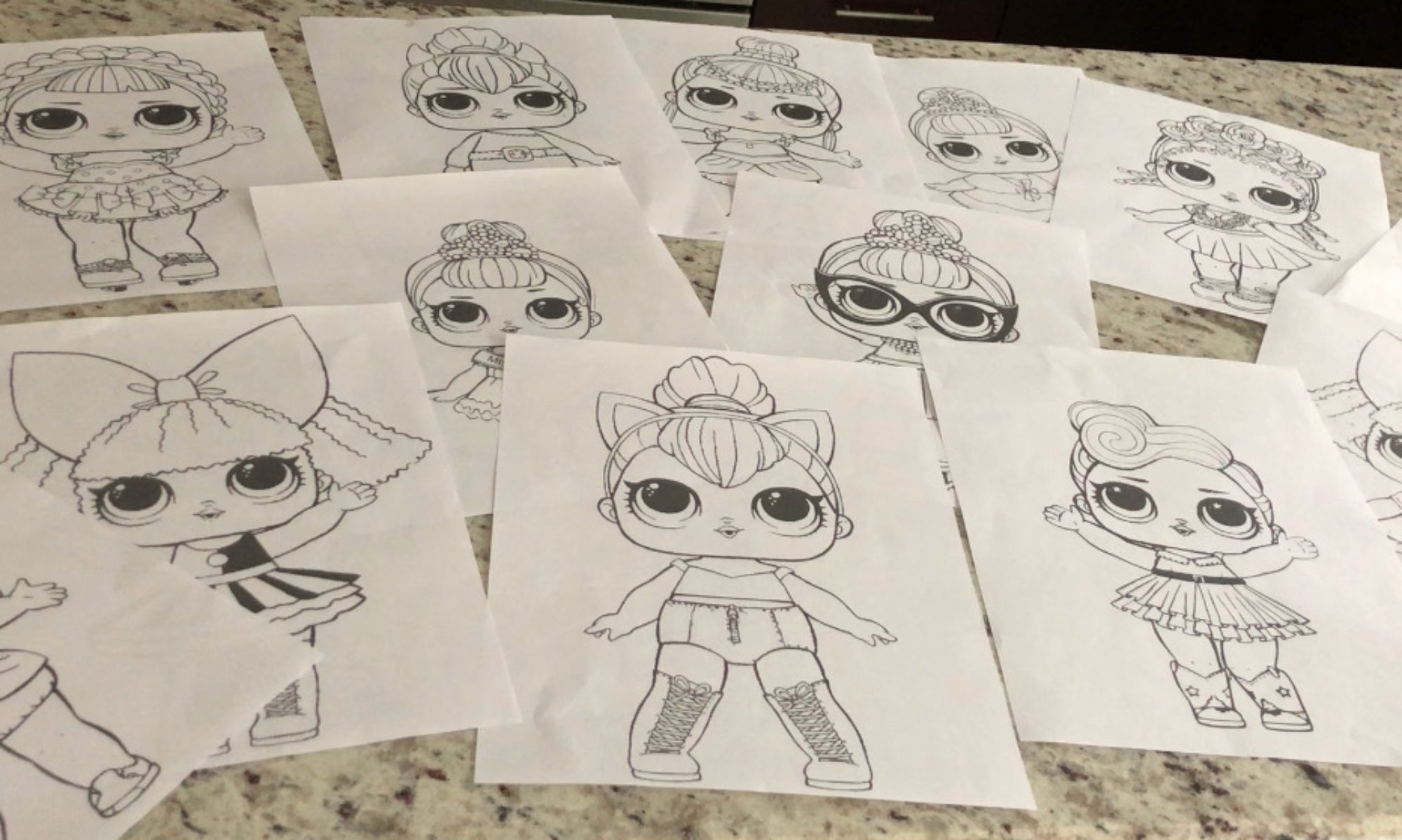 Lol Surprise Doll Coloring Pages Color All Of Your