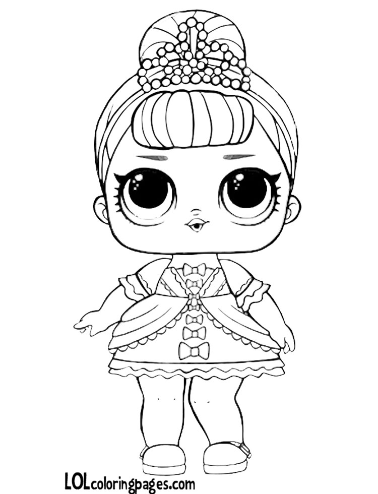 Lol Doll Coloring Pages Black And
