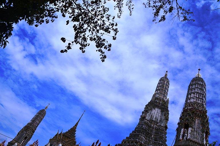 Thailand - Wat Arun up in the Sky