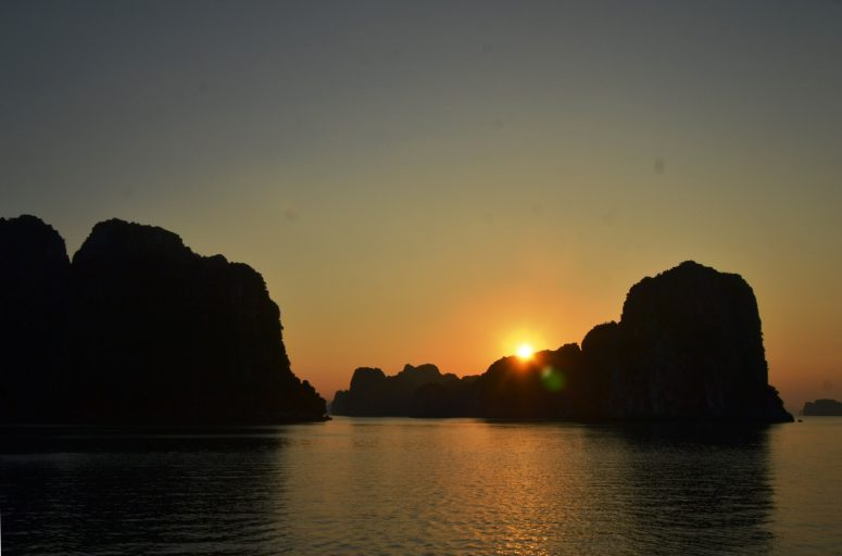 Vietnam - Halong Bay at sunset