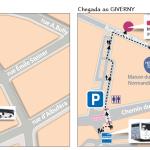 Mapas para pegar os ônibus