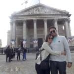Panthéon e sua fachada neoclássica