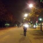 Caminhando pela Champs-Élysées após o jantar delícia