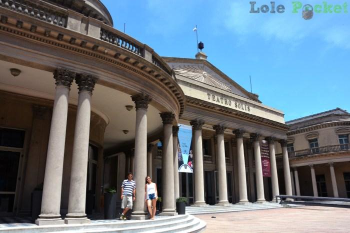 Teatro Solis e sua bela fachada