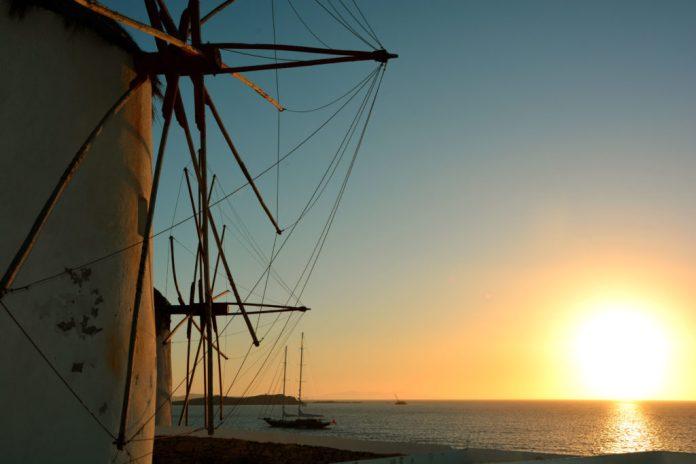 Pôr do sol dos moinhos - Mykonos