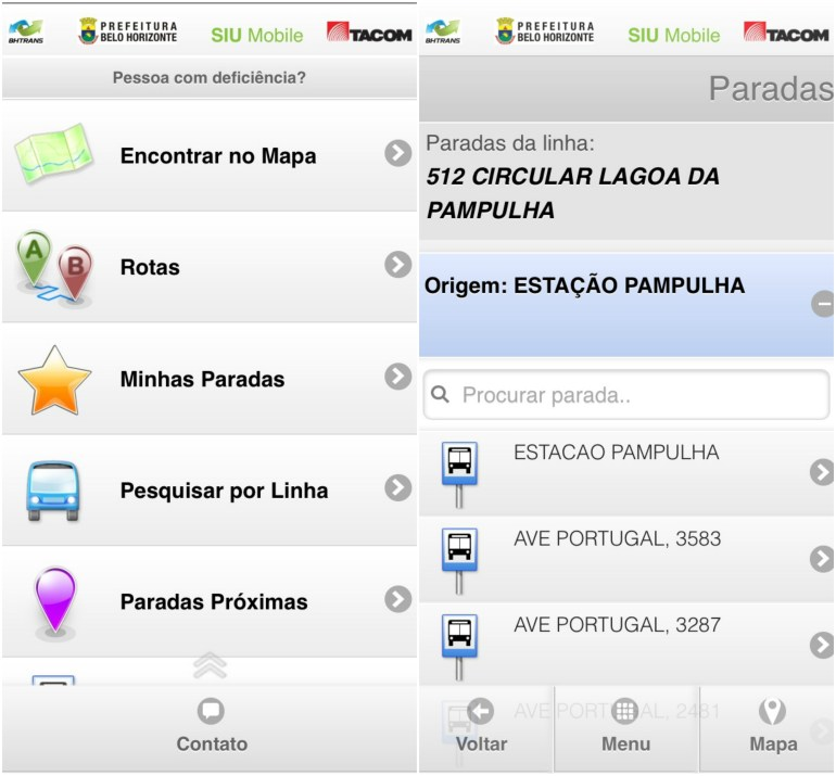 Ônibus Circular na Pampulha - SIU Mobile