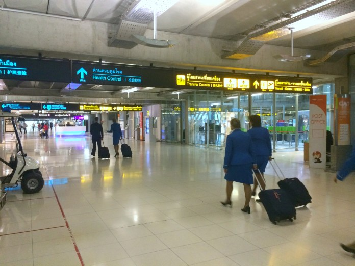 Aeroporto de Bangkok - Desembarque