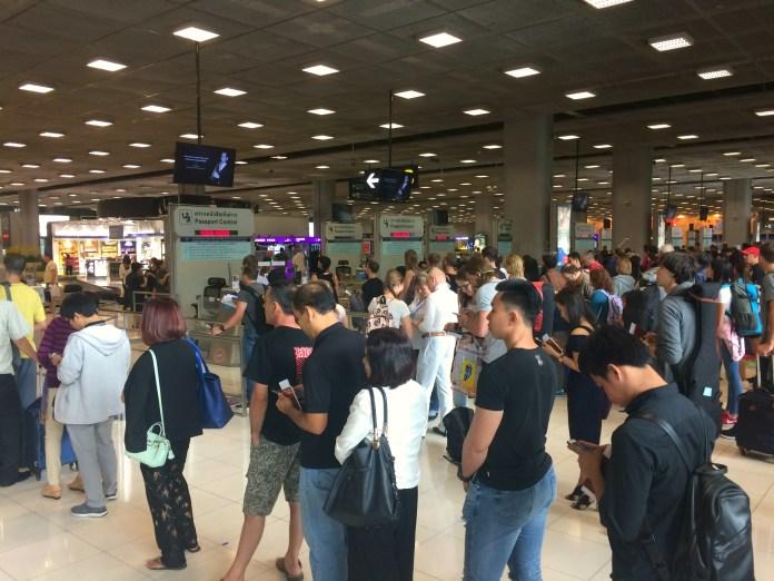 Aeroporto de Bangkok - Imigração